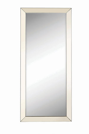 Open image in slideshow, Rectangular Floor Mirror Silver