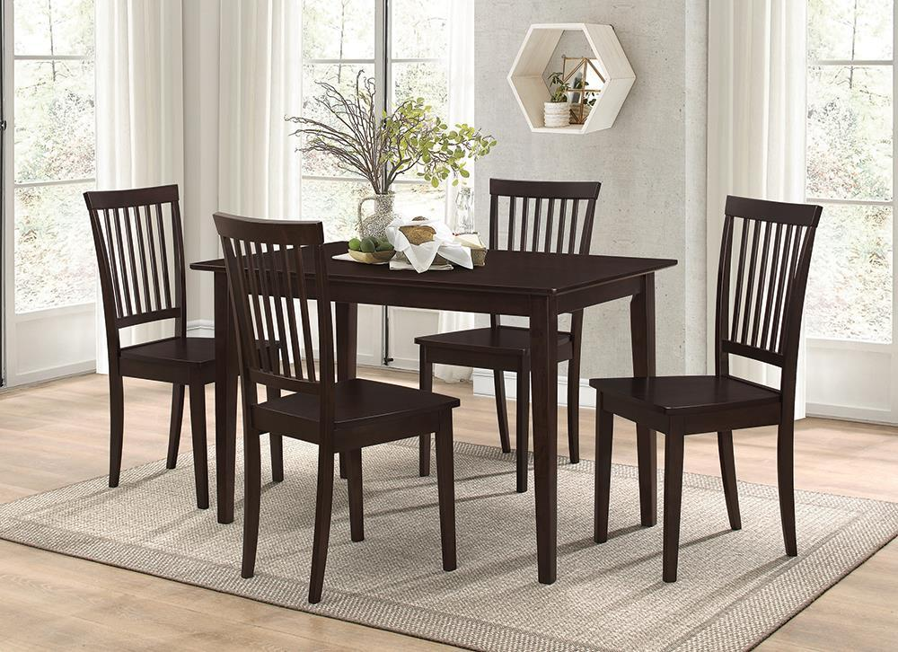 Dining: Packaged Sets Wood - 5-piece Dining Set Cappuccino