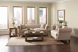 Open image in slideshow, Trivellato Traditional Oatmeal Two-piece Living Room Set