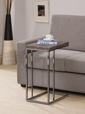 Open image in slideshow, Expandable Top Accent Table Weathered Grey And Black