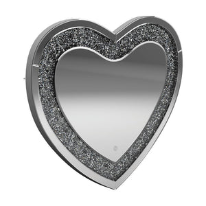 Open image in slideshow, Heart Shape Wall Mirror Silver