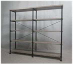 Open image in slideshow, Home Office : Bookcases - Contemporary Silver Metal And Glass Bookcase Box One