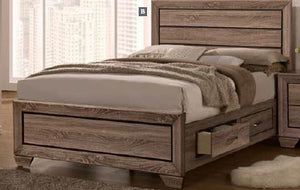 Kauffman Collection - Kauffman Transitional Washed Taupe California King Bed Box Two