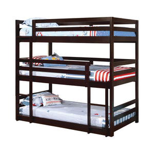 Open image in slideshow, Sandler Triple Bunk Bed - Sandler Twin Triple Bunk Bed Cappuccino