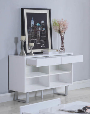Open image in slideshow, 2-drawer Sofa Table High Glossy White