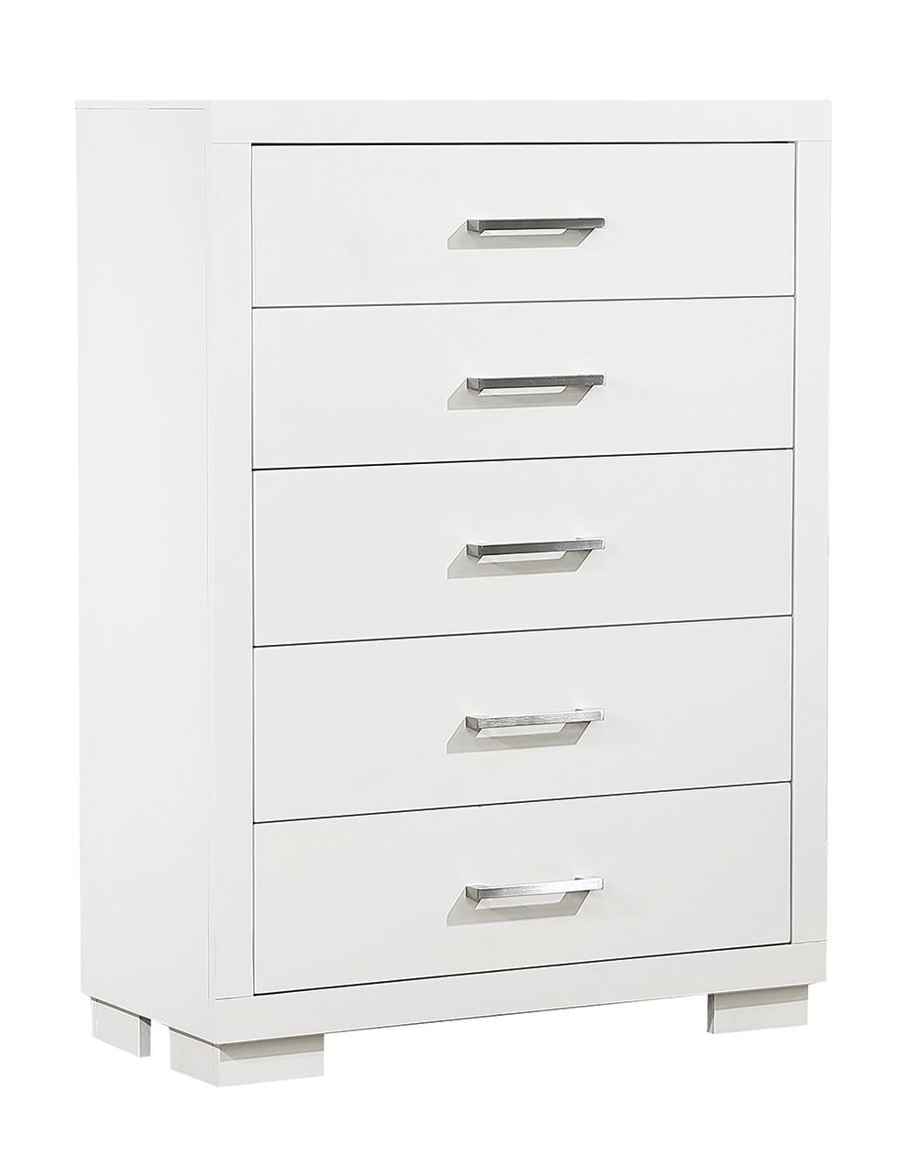 Jessica Collection - Jessica 5-drawer Chest White