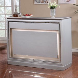 Open image in slideshow, Alena - Bar Table w/ LED Touch Light & Mirror - Silver