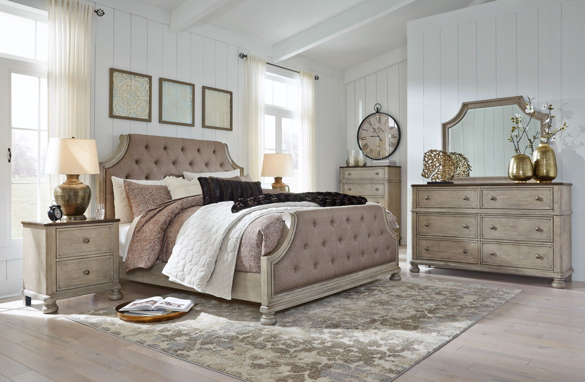 Falkhurst Upholstered Panel Bed