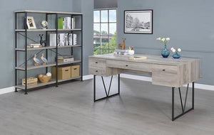 Analiese Collection - Analiese 4-shelf Open Bookcase Grey Driftwood