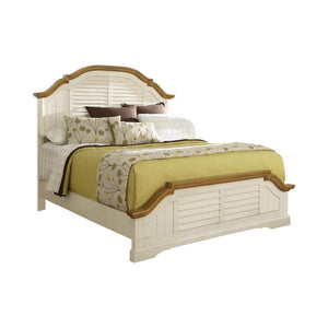 Oleta Collection - Oleta California King Panel Bed With Shutter Detail Buttermilk And Brown