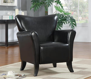 Open image in slideshow, Accents : Chairs - Black - Upholstered Flared Arm Accent Chair Black