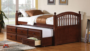Open image in slideshow, Twin Captain's Bed With Trundle - Coastal Chestnut Twin Daybed Box Three