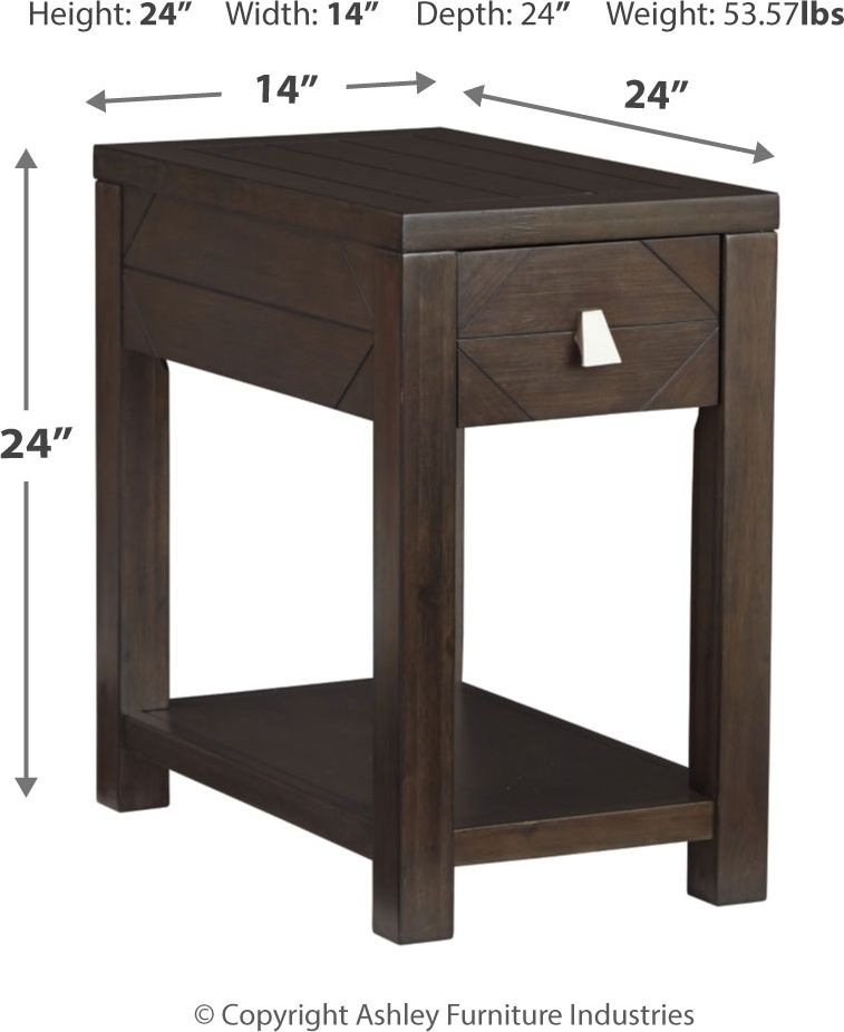 Tariland Chairside End Table