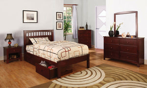 Open image in slideshow, CARUS - 4 Pc. Full Bedroom Set - Cherry