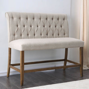 Open image in slideshow, Sania - Counter Ht. Bench - Beige