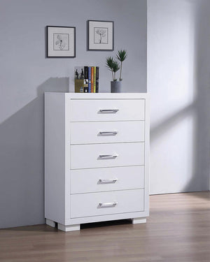 Open image in slideshow, Jessica Collection - Jessica 5-drawer Chest White