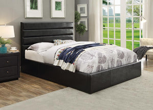 Open image in slideshow, Riverbend Upholstered Bed - Black - Riverbend Full Upholstered Storage Bed Black