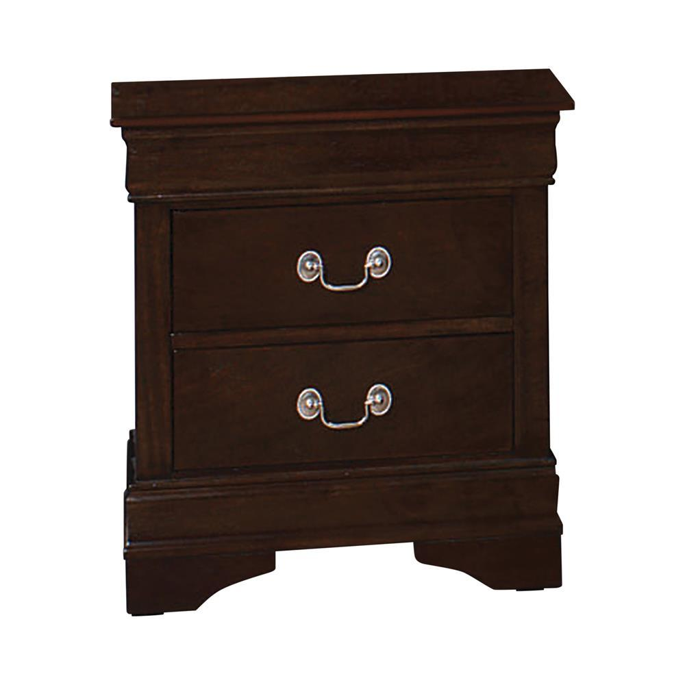 Louis Philippe Collection - Louis Philippe 2-drawer Nightstand Cappuccino