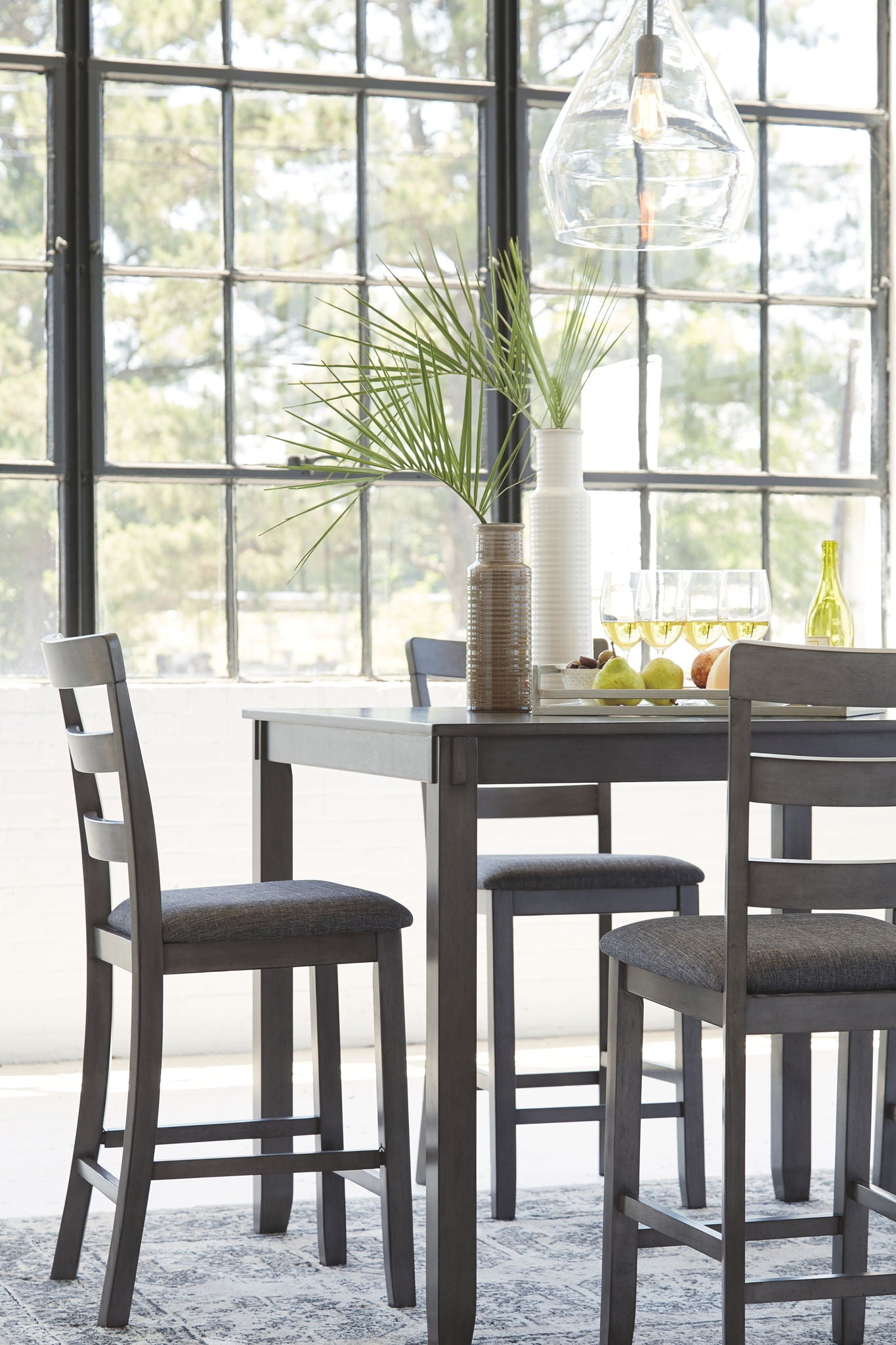 Bridson Counter Height Dining Table and Bar Stools (Set of 5)
