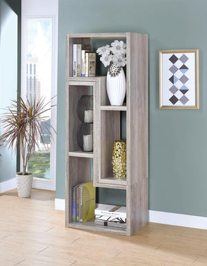 Open image in slideshow, Home Office : Bookcases - Convertable Bookcase And Tv Console Grey Driftwood