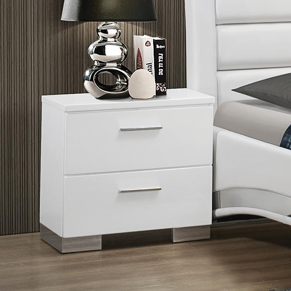 Felicity Collection - Felicity Contemporary Two-drawer Nightstand