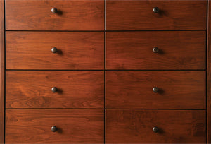 Keizer - 8-Drawer Chest - Dark Cherry