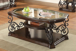 Open image in slideshow, Traditional Occasional Tables - Sir Rawlinson Coffee Table Deep Merlot And Clear