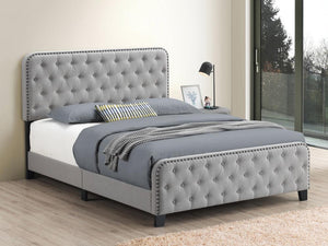 Open image in slideshow, Littleton Upholstered Bed - Mineral - Littleton Eastern King Tufted Upholstered Bed Mineral
