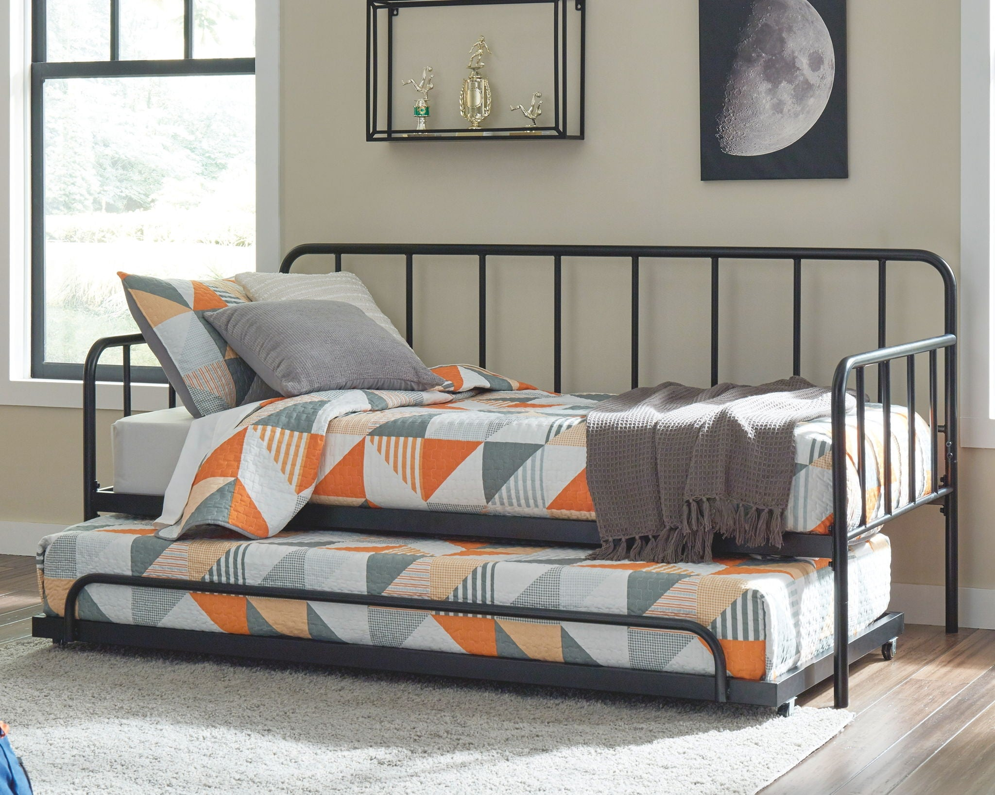 Trentlore Metal Day Bed with Platform