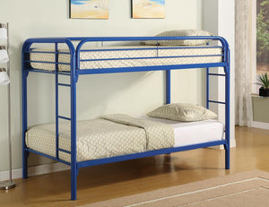 Open image in slideshow, Morgan Bunk Bed - Morgan Twin Over Twin Bunk Bed Blue