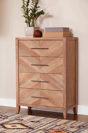 Open image in slideshow, Auburn Collection - Tawny 4-drawer Chest White Washed Natural