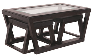 Kelton Coffee Table with Nesting Stools