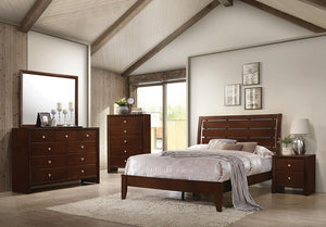 Open image in slideshow, Serenity Rich Merlot King Four-piece Bedroom Set