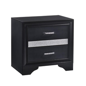 Miranda Collection - Miranda 2-drawer Nightstand Tray Black