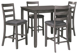 Open image in slideshow, Bridson Counter Height Dining Table and Bar Stools (Set of 5)
