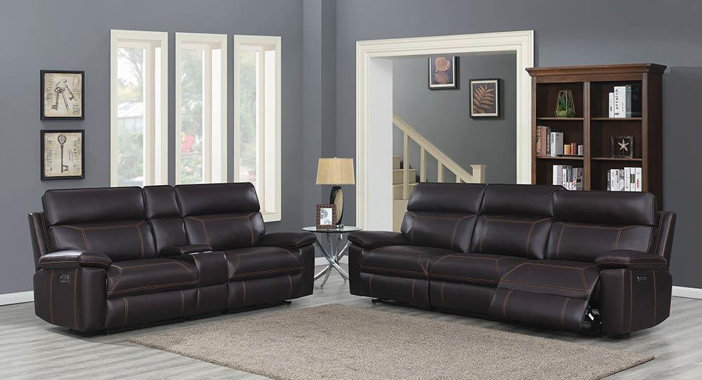 Albany Motion Collection - Brown - 3 Pc Power2 Sofa