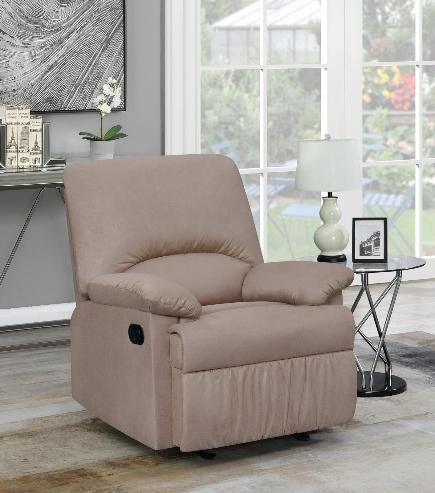 Living Room : Gliders Recliner - Tan - Upholstered Glider Recliner Tan