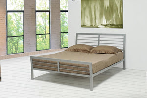 Open image in slideshow, Cooper Metal Bed - Cooper Queen Metal Bed Silver