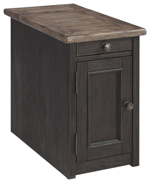 Open image in slideshow, Tyler Creek Chairside End Table with USB Ports & Outlets