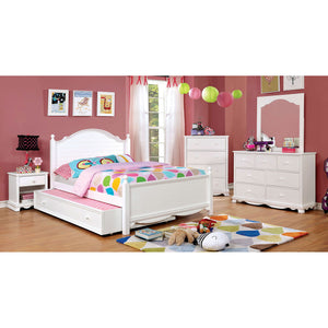 Open image in slideshow, DANI - 4 Pc. Full Bedroom Set w/ Trundle - White