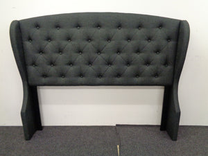 Krome Collection - Charcoal - Krome Eastern King Upholstered Bed With Demi-wing Headboard Charcoal