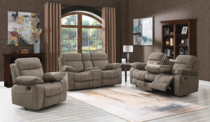 Myleene Motion Collection - Mocha - Myleene Brown Three-piece Living Room Set