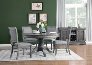 Open image in slideshow, Darcy Collection - Darcy 5-piece Round Dining Set Weathered Ash