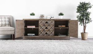 Markos - 6TV Stand - Weathered Light Oak