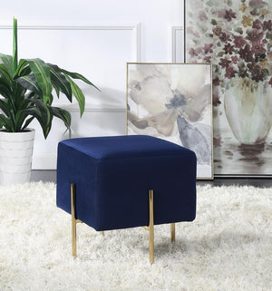 Open image in slideshow, Blue - Square Upholstered Ottoman Blue