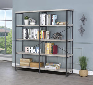 Open image in slideshow, Analiese Collection - Analiese 4-shelf Open Bookcase Grey Driftwood