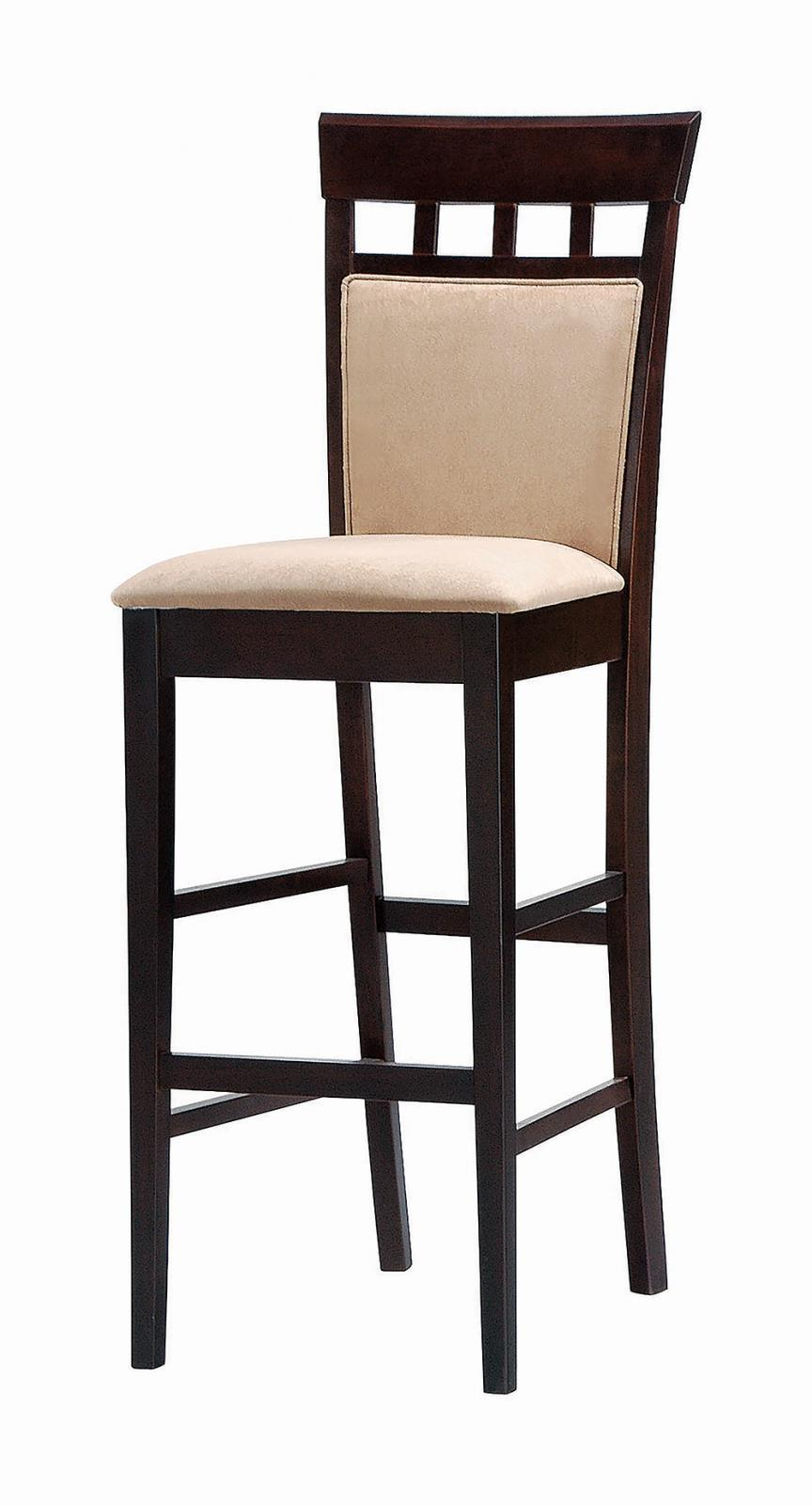Gabriel Collection - Tan - Upholstered Bar Stools Cappuccino And Tan (Set of 2)