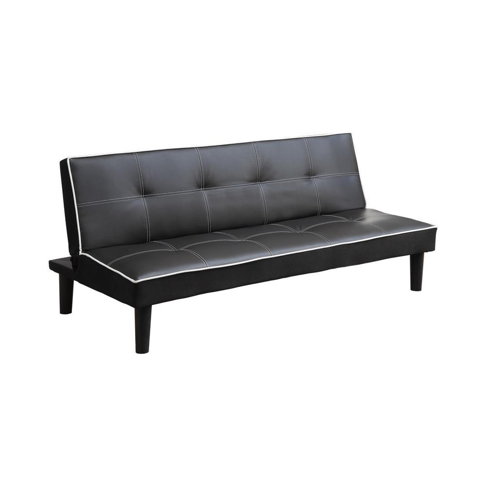Living Room : Sofa Beds - Black - Katrina Tufted Upholstered Sofa Bed Black
