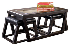 Open image in slideshow, Kelton Coffee Table with Nesting Stools