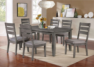 Open image in slideshow, VIANA - 7 Pc. Dining Table Set - Gray